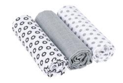 Swaddle blanket 85x85 2020 Little Chums Stars white-bavlněné pleny