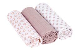 Swaddle blanket 85x85 Little Chums Star light pink-bavlněné pleny