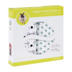 Swaddle blanket 120x120 Little Chums dog(7202.009)