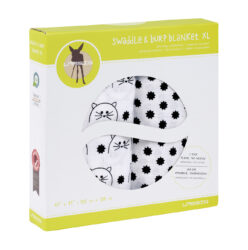 Swaddle blanket 120x120 Little Chums cat(7202.010)