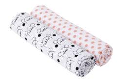 Swaddle blanket 120x120 Little Chums mouse-bavlněné pleny