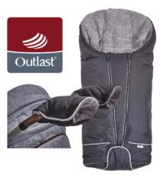 set svítící Fusak Exclusive Outlast a rukavice 2020 černá/šedá-fusak / rukavice