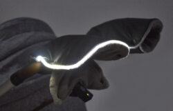 set svítící Fusak Exclusive Outlast a rukavice 2020 šedá/limetková(6368S.26)