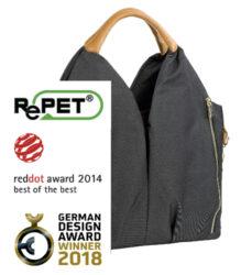 Green Label Neckline Bag denim black-taška na rukojeť