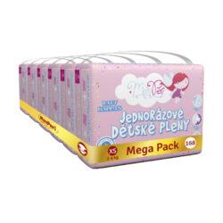 Klasik Mega Pack XS-jednorázové pleny 2-4kg