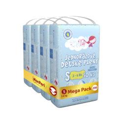Klasik Mega Pack S-jednorázové pleny 3-6kg