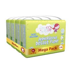 Klasik Mega Pack XL-jednorázové pleny 12-16kg