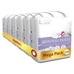 Pants Mega Pack L-jednorázové kalhotky 8-14 kg
