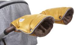 rukavice na kočár Mazlík 2020 zlatá/hnědá-rukavice