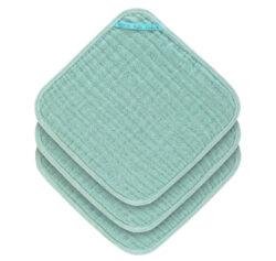Muslin Washcloth Set 3 pcs mint-žínky
