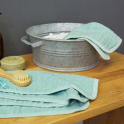 Muslin Washcloth Set 3 pcs mint(7310.002)