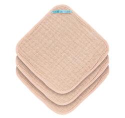 Muslin Washcloth Set 3 pcs light pink-žínky
