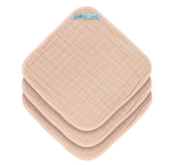 Muslin Washcloth Set 3 pcs light pink - žínky