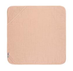 Muslin Hooded Towel light pink-ručník s kapucí