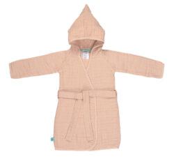 Muslin Bathrobe light pink 24-36m.-koupací plášť