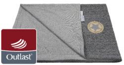 deka dvojitá Copánky tenká Outlast šedá/šedý melír-deka