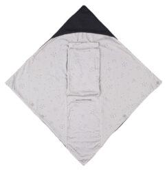 Baby Wrap dark grey star(6677.002)