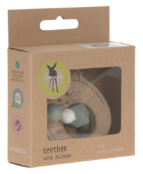 Teether Bracelet Wood/Silicone Little Chums cat(7315.001)