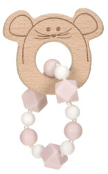 Teether Bracelet Wood/Silicone Little Chums mouse-kousátko