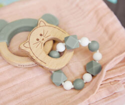 Teether Bracelet Wood/Silicone Little Chums mouse(7315.002)