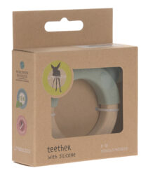 Teether Ring Wood/Silicone 2020 Little Chums cat(7316.001)