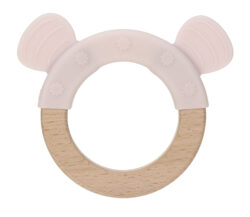 Teether Ring Wood/Silicone 2020 Little Chums mouse - kousátko