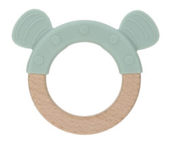 Teether Ring Wood/Silicone 2020 Little Chums dog - kousátko