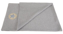 deka vafle 70x100 sv. šedá-deka
