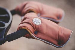 rukavice na kočár Mazlík 2021 bordová/bordová(6372M.08)