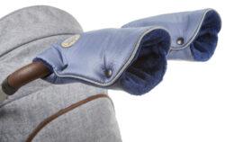rukavice na kočár Mazlík 2021 ocelově modrá/modrá-rukavice